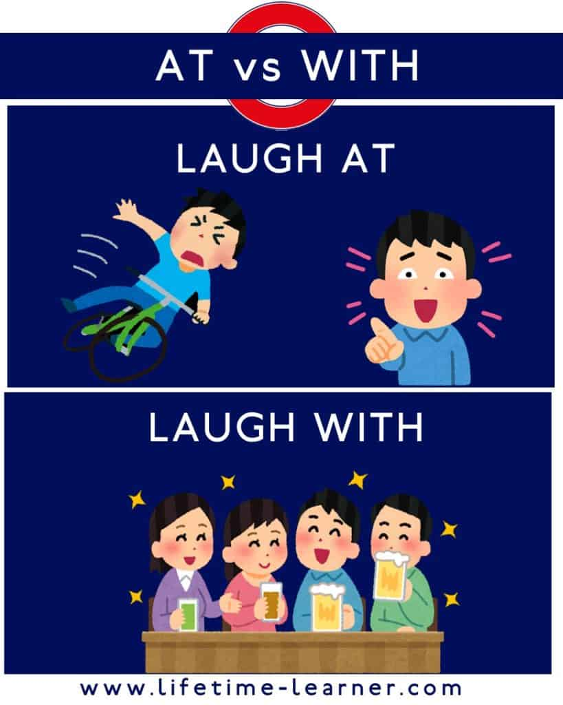 Laugh with Laught at 違い