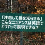 注意する 英語
