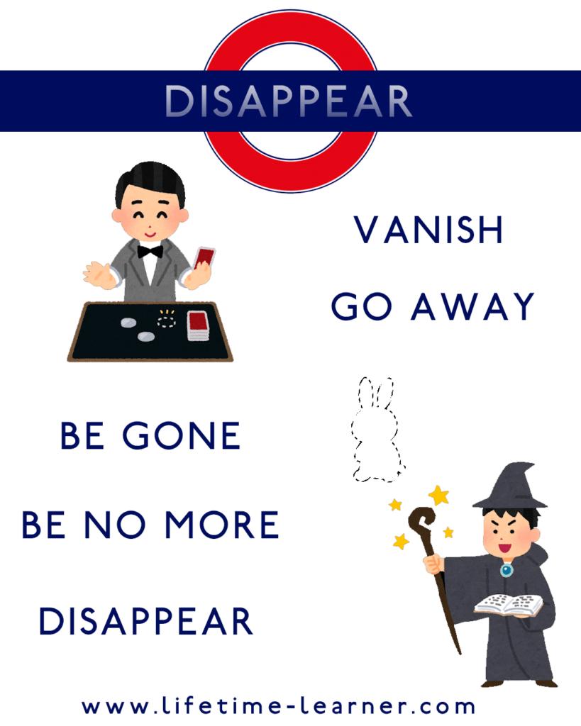 消える 英語