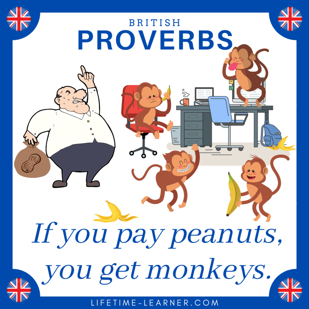 if you pay peanuts you get monkeys 英語 ことわざ