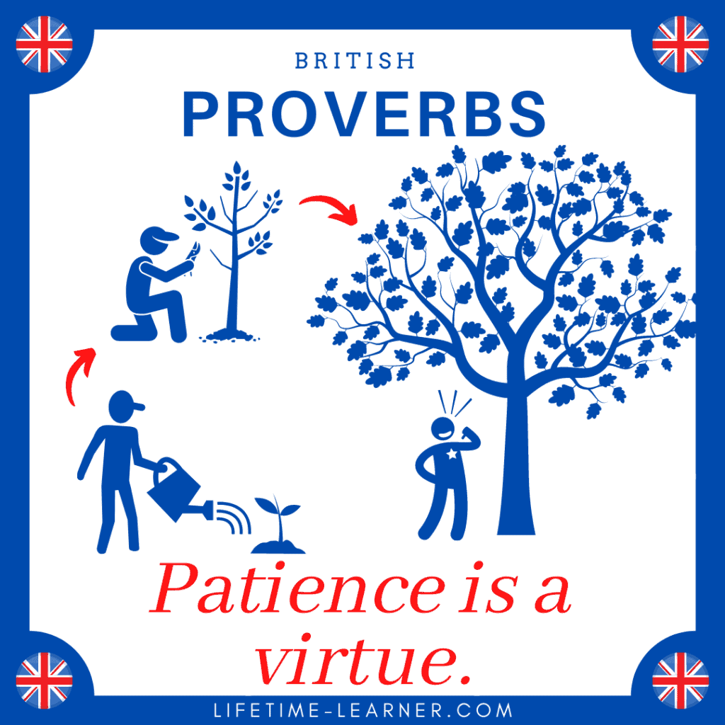 Patience is a virtue 英語 ことわざ