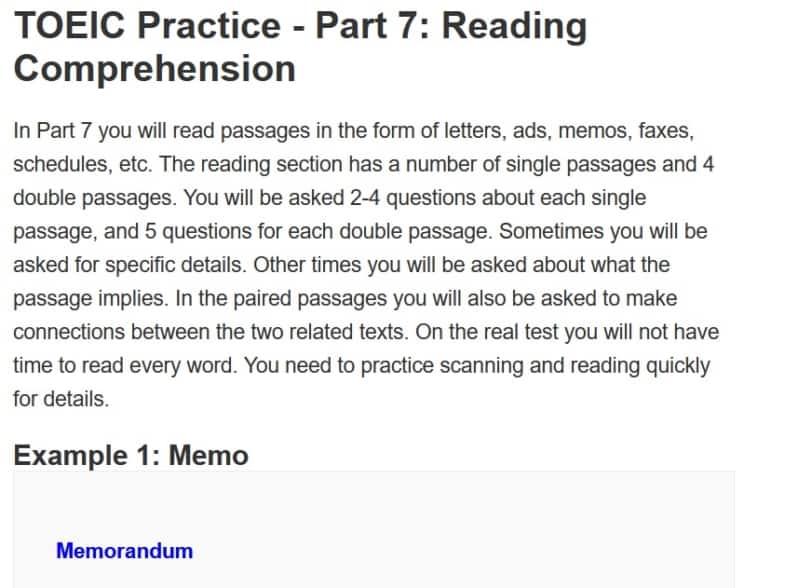TOEIC part 7 練習問題2