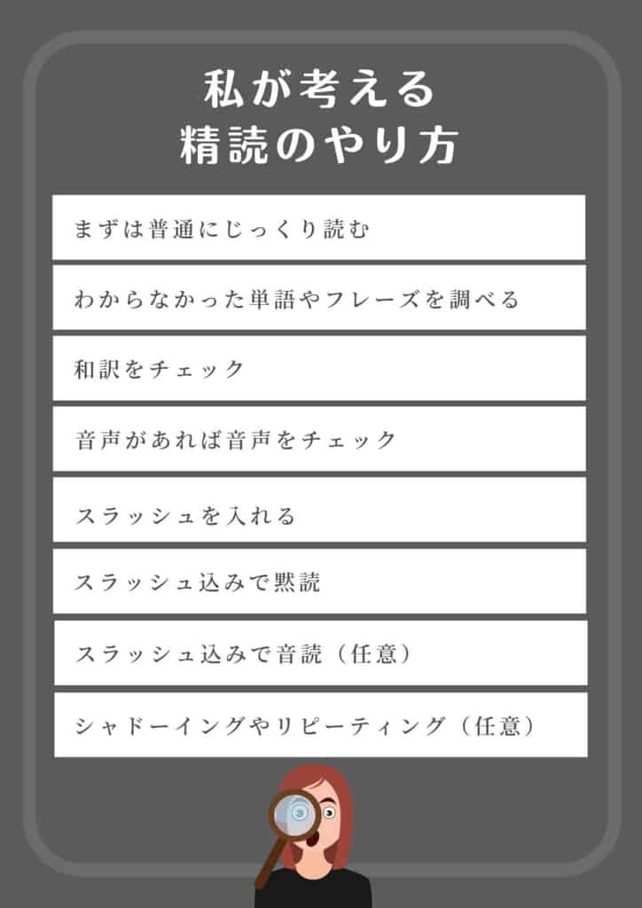 精読 英語 やり方